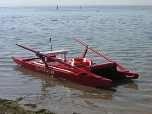 Rescue craft - A primitive rescue boat, Grado, Italy, 2006.
