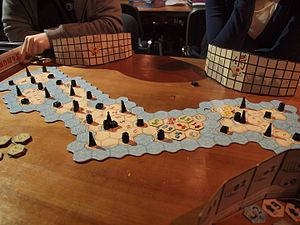 Eurogame - Samurai is a game of tile placement, set collection and area control