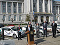 San Francisco's Mayor Gavin Newsom at the Green Showcase at City Hall 01.jpg