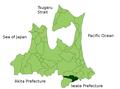Sannohe in Aomori Prefecture.png