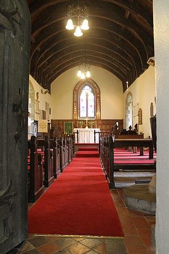 Efenechtyd - Image: Sant Mihangel a'r Holl Angylion, Efenechtyd, Sir Ddinbych 06