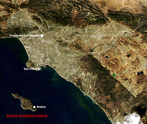 NASA image of Southern California with Santa C...
