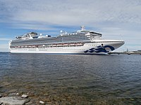 Sapphire Princess at pier 24 in Port of Tallinn 8 June 2018