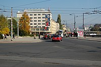 Sarajevo Tram-Stop Skenderija 2011-10-31 (3).jpg
