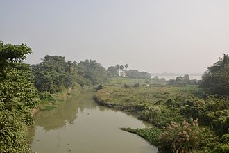 Saraswati River (Bengal) - The meeting point of River Saraswati with River Bhagirathi near Tribeni in Hooghly.