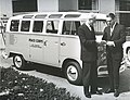 Sargent Shriver accepts a donated Volkswagen van that was the first passenger vehicle in Peace Corps history and was used in Washington, DC. - 042 Print scan 004.jpg