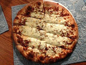 Quad City-style pizza - Sausage pizza from Harris Pizza (Davenport, Iowa location)