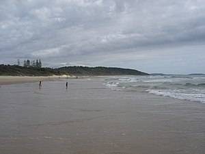 Sawtell Beach New South Wales to the northern end
