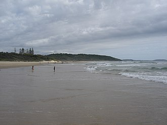 Sawtell, New South Wales - Image: Sawtell Beach New South Wales to the northern end