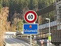 Schaanwald Liechtenstein Ortsbeginn auf Hauptstrasse (West).jpg