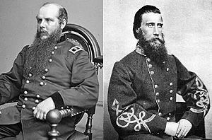Battle of Spring Hill - Army commanders Schofield and Hood
