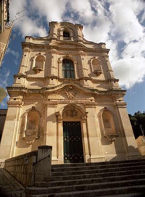 Santa Maria la Nova, Scicli - Santa Maria la Nova, facade