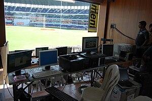 Vidarbha Cricket Association Stadium - Image: Scorecard control room
