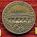 Scuola romana, medaglia di gregorio XIII, 1580, ponte sul paglia.JPG