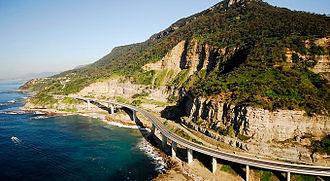 Sea Cliff Bridge - Image: Sea Cliff Bridge from air