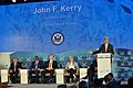 Secretary Kerry Delivers Remarks with the Ocean Champions on Stage during 2016 Our Ocean Conference (29100253604).jpg