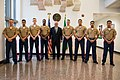 Secretary Tillerson Poses for a Photo With the U.S. Marine Security Guards in Abuja (40064778534).jpg