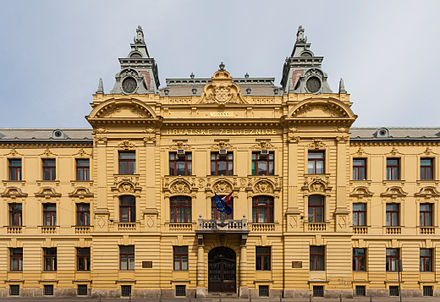 Croatian Railways headquarters Sede de los Ferrocarriles Croatas, Zagreb, Croacia, 2014-04-13, DD 01.JPG