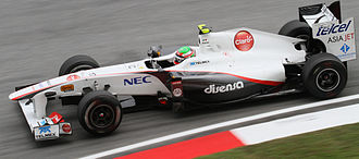 Sergio Pérez - Pérez driving for Sauber at the 2011 Malaysian Grand Prix.