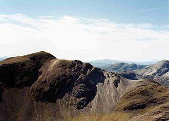 Sgorr Ruadh - Sgorr Ruadh seen from Beinn Liath Mhòr