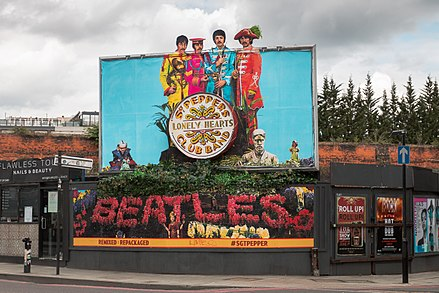 Sgt. Pepper 50th anniversary billboard in London Sgt. Pepper's 50th Anniversary Billboard in London.jpg
