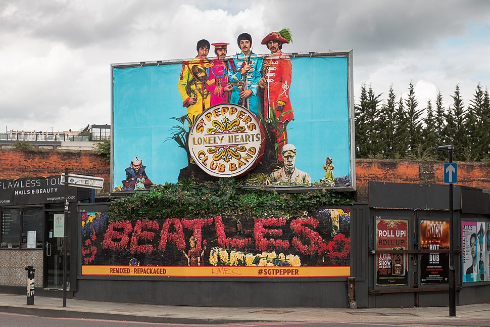 Sgt. Pepper's 50th Anniversary Billboard in London