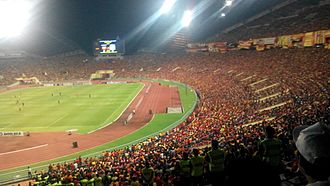 Malaysia national football team - Image: Shah Alam Stadium