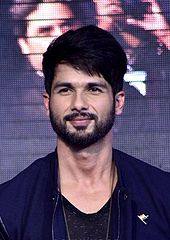 Shahid Kapoor looks directly at the camera