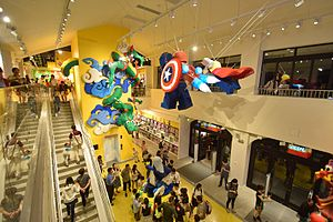 Disneytown - The flagship Lego Store in Shanghai Disneyland.