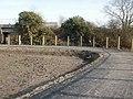 Sharp bend in cycleway - geograph.org.uk - 1755642.jpg