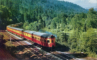Shasta Daylight - The train and its observation car in 1949