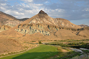 John Day Fossil Beds National Monument - Sheep Rock near sunset