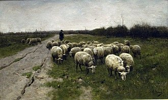 Teylers Tweede Schilderijenzaal - Image: Sheep on the moor