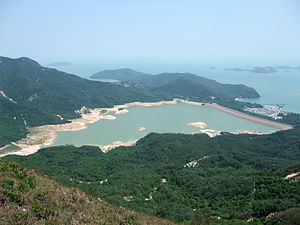 Water supply and sanitation in Hong Kong - The Shek Pik Reservoir was the first reservoir in Hong Kong built in a sea bay.