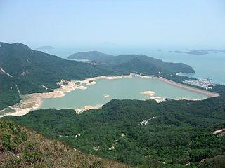 Shek Pik Area located along the southwestern coast of Lantau Island, Hong Kong.