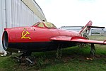 Shenyang J-5 (MiG-17 Fresco), owned by Bill Reesman, view 3 - Oregon Air and Space Museum - Eugene, Oregon - DSC09783.jpg