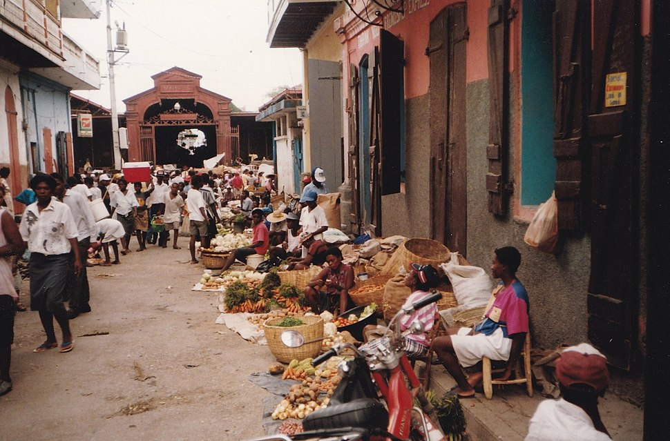 Shopping streetin Haiti