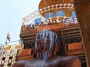 Digambara Terapanth - Bisapanthi Abhisheka at Shravanabelagola