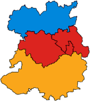 Parliamentary constituencies in Shropshire - Image: Shropshire Parliamentary Constituency 2001Results 2