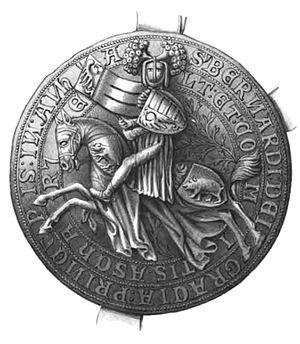 Bernhard III, Prince of Anhalt-Bernburg - Bernhard III's seal