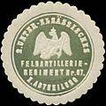Siegelmarke 2. Unter-Elsässisches Feldartillerieregiment Nr. 67, I. Abtheilung W0346829.jpg