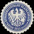 Siegelmarke Bürgermeisteramt Blankenrath Kreis Zell-Mosel W0381879.jpg