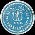 Siegelmarke Gemeinde-Vorstand Markersdorf W0321157.jpg
