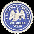 Siegelmarke Königlich Preussisches General - Commando VIII. Armee Corps W0238265.jpg