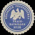 Siegelmarke K.Pr. Train-Bataillon No. 16 W0370634.jpg