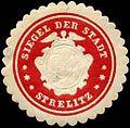 Siegelmarke Siegel der Stadt - Strelitz W0237546.jpg
