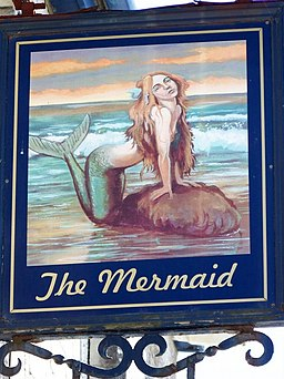 Sign for the Mermaid, Easton - geograph.org.uk - 1360524