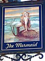 Sign for the Mermaid, Easton - geograph.org.uk - 1360524.jpg