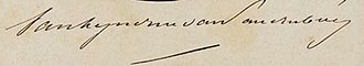 Theo van Lynden van Sandenburg - Image: Signature Lynden Van Sandenburg