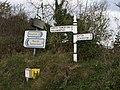Signposts at Hornacott Chapel - geograph.org.uk - 610490.jpg